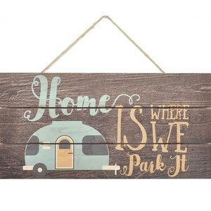Other - Home is Where We Park It Wooden Plank Sign RV Blue